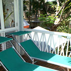 Sunlounges on balcony