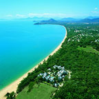 located on palm cove beach