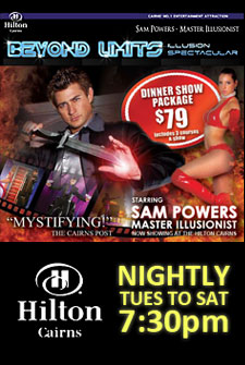 Beyond Limits with Sam Powers at the Cairns Hilton