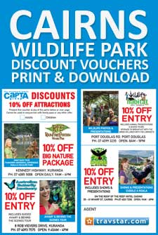 Cairns Discount Vouchers. Cairns Zoo, Paronella Park, Birdworld, Rainforestation, Wildlife Dome, Rainforestation & more