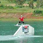 run by professional wake boarders and water skiers.