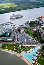 ARIAL VIEW OF THE MARINA AND SWIMMING LAGOON