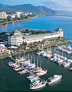 ARIAL VIEW OVER THE MARINA & SHANGRI-LA TO THE CAIRNS ESPLANADE