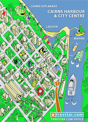 Cairns City Comic Map