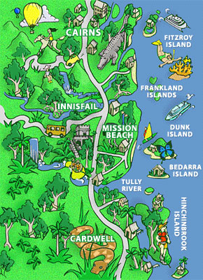 Cassowary Coast Comic Map