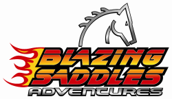 Blazing Saddles logo
