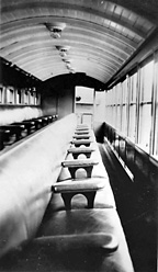 Interior of a Grandstand Carriage Train at Cairns 12 November 1940
