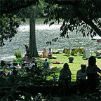 well kept picnic area