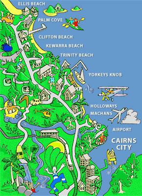 Cairns Comic Map