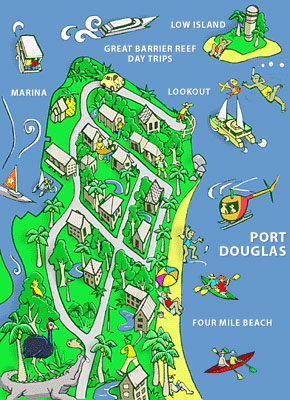 Port Douglas Comic Map