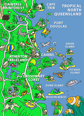 Tropical North Queensland Comic Map