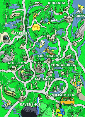 Tablelands Comic Map