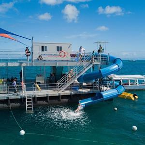 Reef Pontoon with Waterslide Cairns
