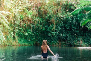 Swimming in the Daintree